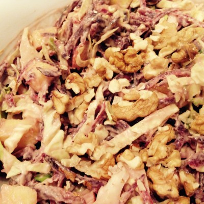 toasted nutty coleslaw