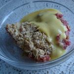rhubarb crumble