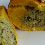 stuffed mini pumpkin