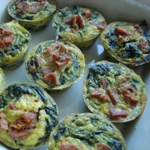 mini cheese and silverbeet frittatas