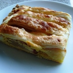apple, almond and lemon jalousie
