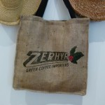 coffee sack tote back