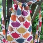 an apron remade into a backpack