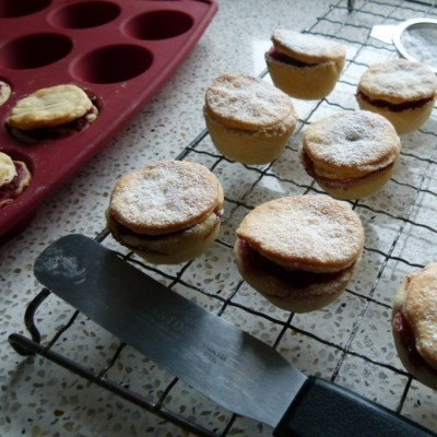 festive mini rhubarb pies