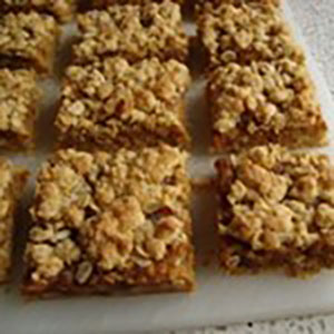 oaty date, orange and cardamon squares