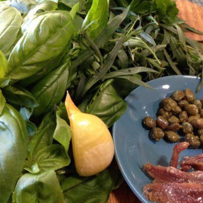salsa verde (green herb sauce)
