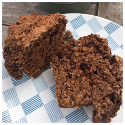 Chocolate orange and cranberry muffins