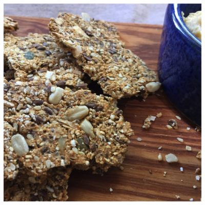 seedy oat crackers